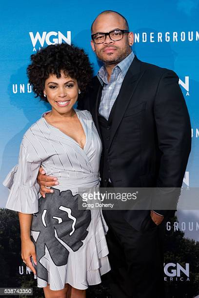 Actress Jurnee SmollettBell and Director / Executive Producer Anthony Hemingway attend the Screening And Panel For WGN America's Underground at the...