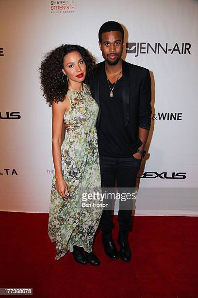 Actress Jurnee SmollettBell and her husband Josiah Bell attend the Festa Italiana with Giada de Laurentiis opening night celebration of the third...