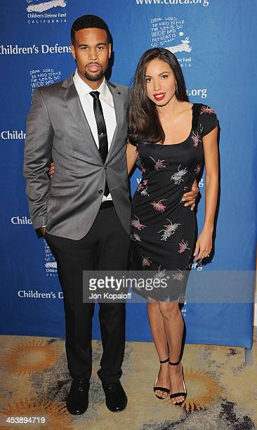 Actress Jurnee SmollettBell and husband Josiah Bell arrive at the Children's Defense Fund 23rd Annual Beat The Odds Awards at Beverly Hills Hotel on...