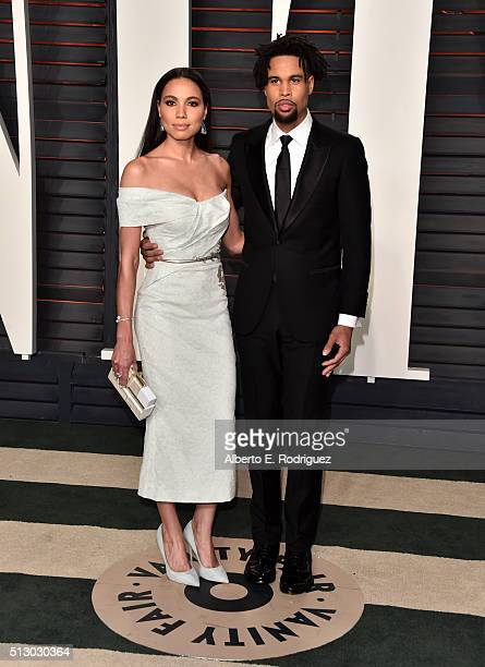 Actress Jurnee SmollettBell and Josiah Bell attend the 2016 Vanity Fair Oscar Party hosted By Graydon Carter at Wallis Annenberg Center for the...