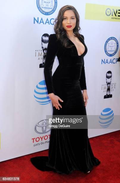 Actress Jurnee SmollettBell arrives at the 48th NAACP Image Awards at Pasadena Civic Auditorium on February 11 2017 in Pasadena California