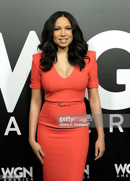 Actress Jurnee SmollettBell attend the photo call for WGN America's 'Underground' and 'Outsiders' at The Langham Hotel on January 13 2017 in Pasadena...
