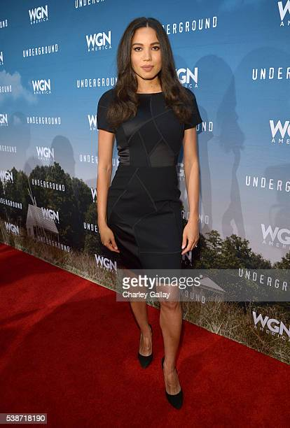 Actress Jurnee SmollettBell attends a screening of WGN America's 'Underground' as part of the Awardsline Screening Series at Landmark Theatre on June...