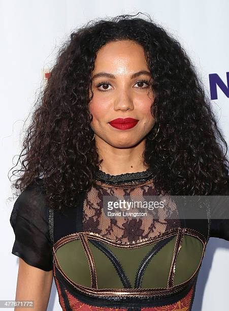 Actress Jurnee SmollettBell attends the Black AIDS Institute 2015 Heroes in the Struggle Gala Reception and Awards Ceremony at the Directors Guild of...