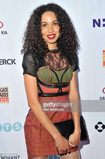Actress Jurnee SmollettBell attends the Black AIDS Institute 2015 Heroes in the Struggle Reception Gala and Awards Ceremony at Directors Guild Of...