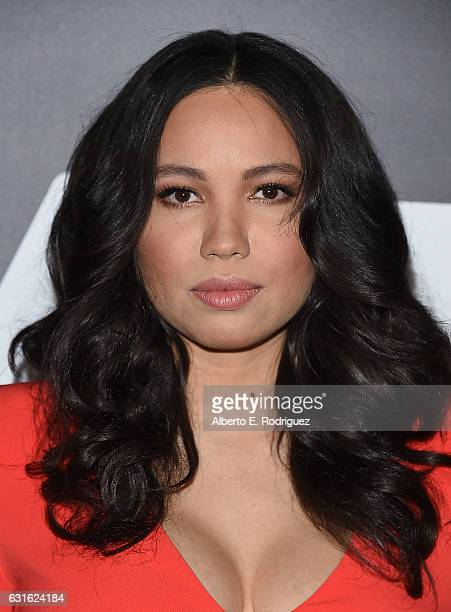 Actress Jurnee SmollettBell attends the photo call for WGN America's 'Underground' and 'Outsiders' at The Langham Hotel on January 13 2017 in...