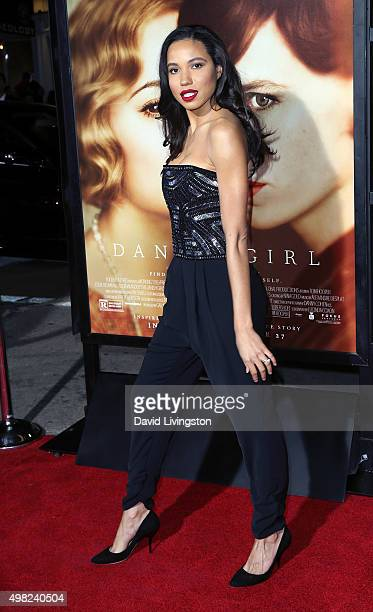 Actress Jurnee SmollettBell attends the premiere of Focus Features' The Danish Girl at the Regency Village Theatre on November 21 2015 in Westwood...