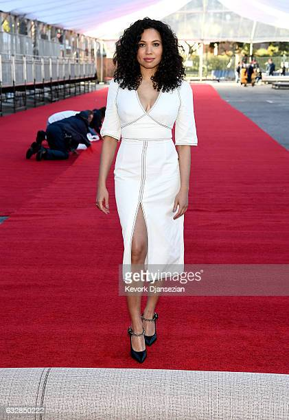Actress Jurnee SmollettBell attends the Red Carpet RollOut Ceremony BTS during The 23rd Annual Screen Actors Guild Awards on January 27 2017 in Los...