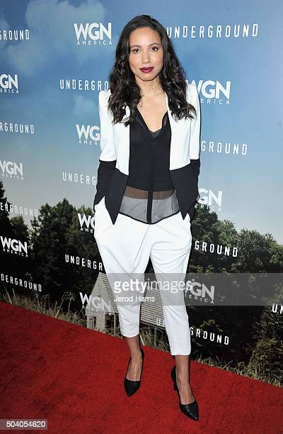 Actress Jurnee SmollettBell attends the WGN America Winter 2016 TCA Press Tour for Underground at The Langham Huntington Hotel and Spa on January 8...
