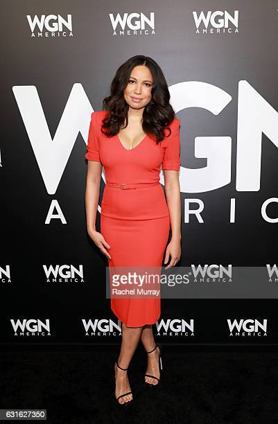 Actress Jurnee SmollettBell attends the WGN America Winter TCA at Langham Hotel on January 13 2017 in Pasadena California