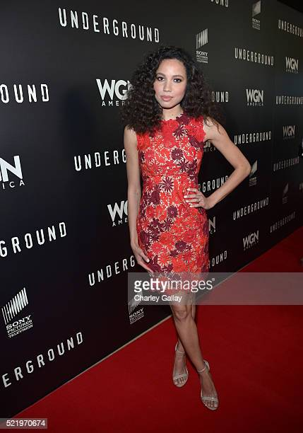 Actress Jurnee SmollettBell attends WGN America's Underground For Your Consideration Emmy Event on April 17 2016 in Beverly Hills California
