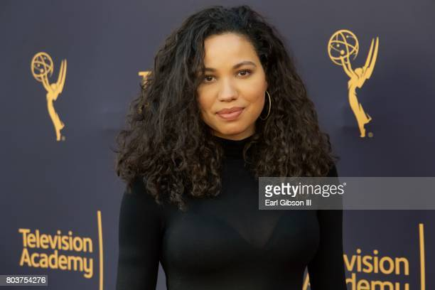 Actress Jurness SmollettBell attends the Television Academy Host Words Music at Wolf Theatre on June 29 2017 in North Hollywood California