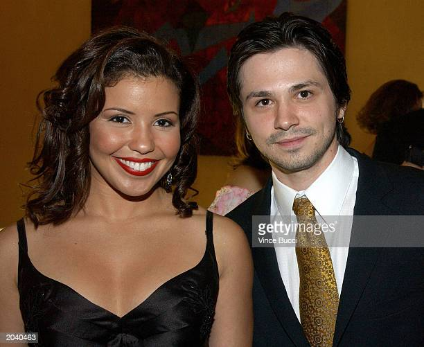 Actress Justina Machado and actor Freddy Rodriguez attends the 18th Annual Imagen Awards on May 29 2003 in Beverly Hills California The awards...
