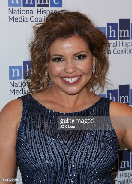 Actress Justina Machado attends the 20th Annual National Hispanic Media Coalition Impact Awards Gala at Regent Beverly Wilshire Hotel on February 24...