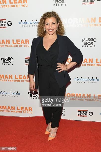 """Actress Justina Machado attends the premiere of Music Box Films' """"Norman Lear: Just Another Version Of You"""" at The WGA Theater on July 14, 2016 in..."""
