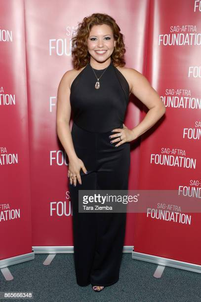 Actress Justina Machado attends the SAGAFTRA Foundation conversations and screening of 'One Day At A Time' at SAGAFTRA Foundation Screening Room on...