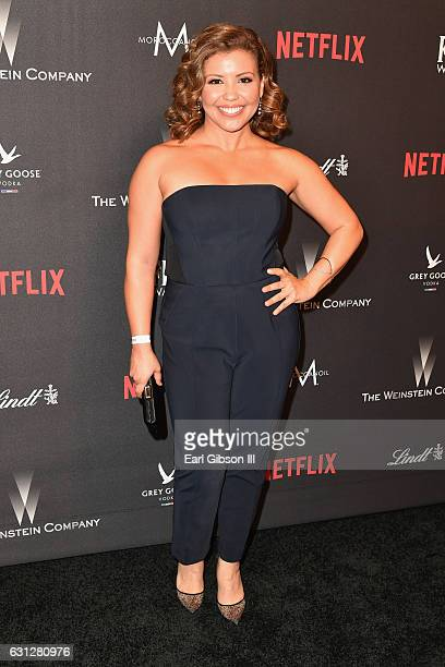 Actress Justina Machado attends The Weinstein Company and Netflix Golden Globe Party presented with FIJI Water Grey Goose Vodka Lindt Chocolate and...