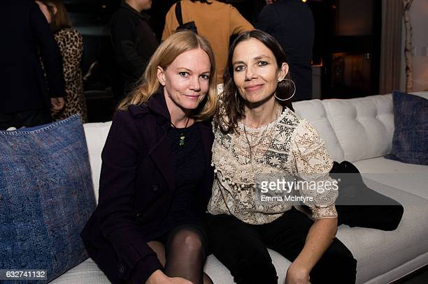 Actress Justine Bateman and guest attend 'Art Los Angeles Contemporary host committee members and collectors Joel Lubin and wife Marija Karan host...