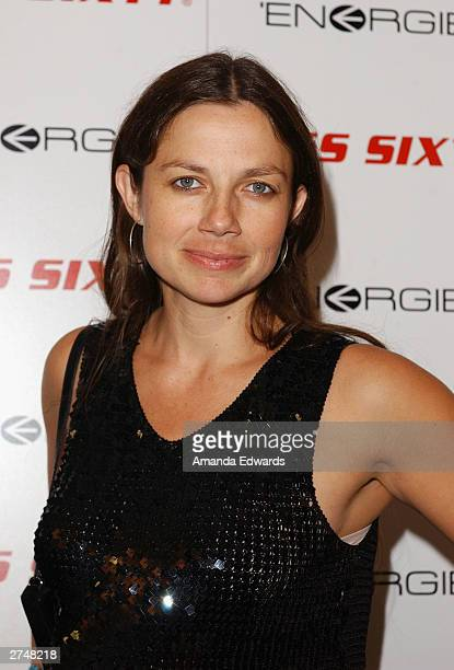 Actress Justine Bateman arrives at the Miss Sixty and Energie official store opening at the Miss Sixty store on Melrose Avenue on November 19 2003 in...