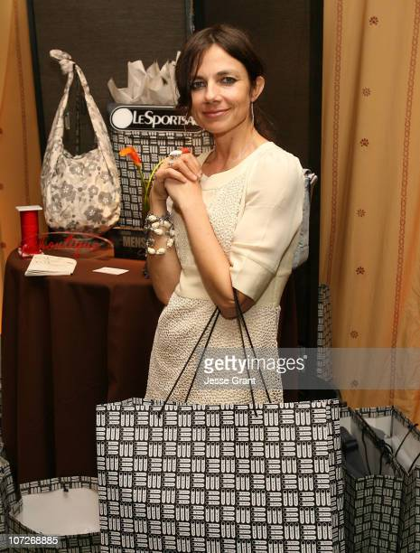 Actress Justine Bateman at the On3 Productions Lounge at Film Independent's 2008 Independent Spirit Awards at the Santa Monica Pier on February 23...