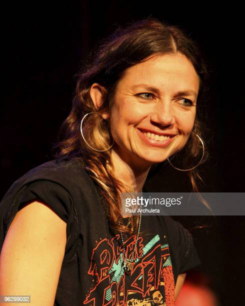 Actress Justine Bateman attends the Celebrities To Tell THE TRUTH Improv Show at Bang Improv Theatre on January 30 2010 in Los Angeles California