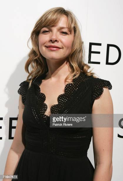Actress Justine Clarke arrives at SEED, a new venture in Film, Television and Theatre set-up by Hugh Jackman, wife Deborra-Lee Furness and John...