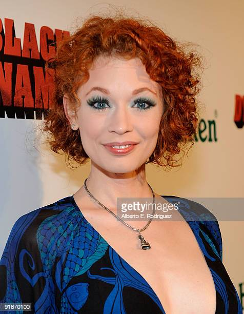 Actress Justine Joli arrives at the Los Angeles premiere of Black Dynamite on October 13 2009 in Hollywood California