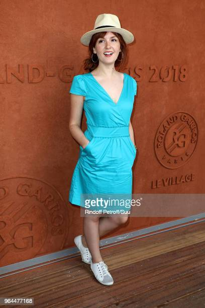 Actress Justine Le Pottier attends the 2018 French Open - Day Five at Roland Garros on May 31, 2018 in Paris, France.