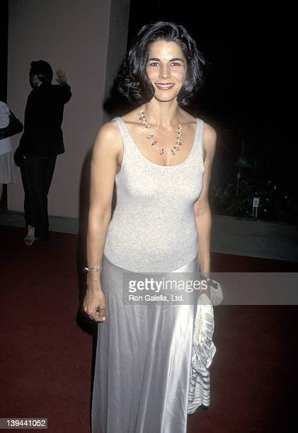 Actress Justine Miceli attends the ABC Television Fall Season KickOff Party on September 12 1995 at Beverly Hills Hotel in Beverly Hills California