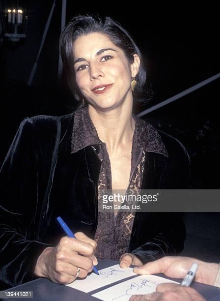 Actress Justine Miceli attends the ABC Winter TCA Press Tour on January 10 1996 at RitzCarlton Hotel in Pasadena California