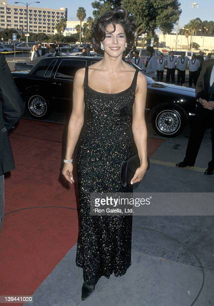 Actress Justine Miceli attends the Second Annual Screen Actors Guild Awards on February 24 1996 at Santa Monica Civic Auditorium in Santa Monica...