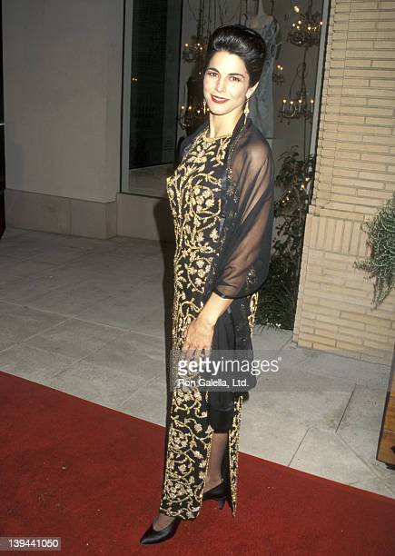 Actress Justine Miceli attends the Sixth Annual Fire and Ice Ball to Benefit Revlon/UCLA Women's Cancer Research Program on November 13 1995 at...