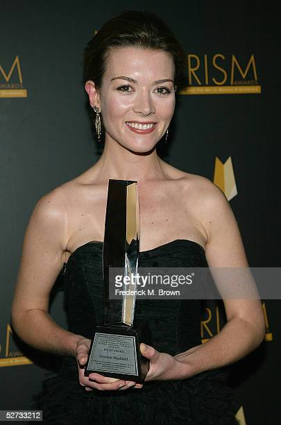Actress Justine Waddell attends the Ninth Annual Prism Awards at the Beverly Hills Hotel on April 28 2005 in Beverly Hills California Actress Justine...
