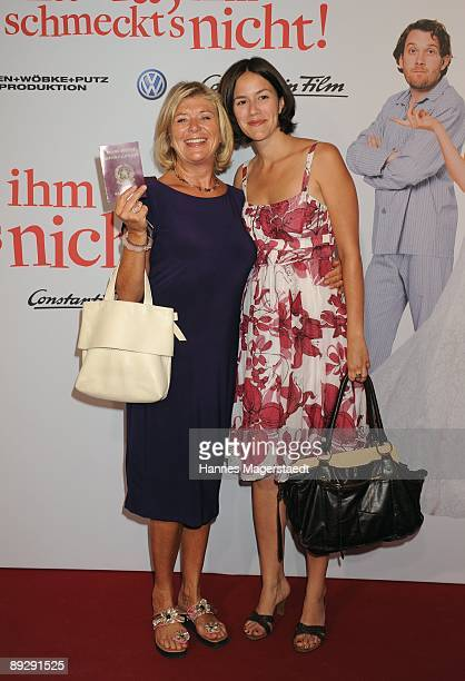 Actress Jutta Speidel and her daughter Antonia attend the world premiere of Maria Ihm Schmeckt's Nicht on July 27 2009 in Munich Germany