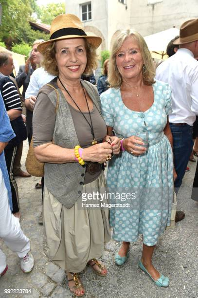 Actress Jutta Speidel and Michaela May attend the FFF reception during the Munich Film Festival 2018 at Praterinsel on July 5 2018 in Munich Germany
