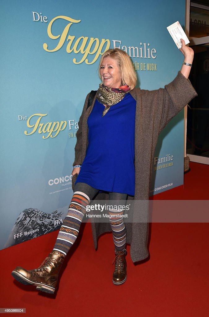 Actress Jutta Speidel attends 'Die Trapp Familie - Ein Leben fuer die Musik' German Premiere at Gloria Palast on November 2, 2015 in Munich, Germany.