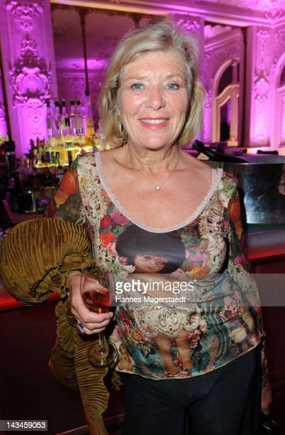 Actress Jutta Speidel attends the ARTDECO Art Couture Collection at Bayerischer Hof on April 26 2012 in Munich Germany