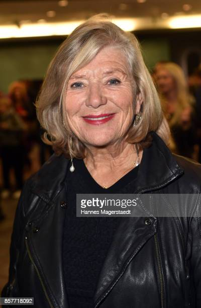 Actress Jutta Speidel attends the 'We are all the same' Exhibition Opening at Le Meridien on October 4 2017 in Munich Germany