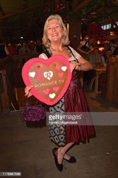 """Actress Jutta Speidel poses during the """"Fernsehen mit Herz"""" Wiesn event during the Oktoberfest 2019 at Kufflers Wine Tent at Theresienwiese on..."""
