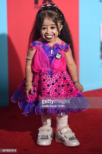 Actress Jyoti Amge arrives at the Los Angeles premiere of 'American Horror Story Freak Show' at TCL Chinese Theatre IMAX on October 5 2014 in...