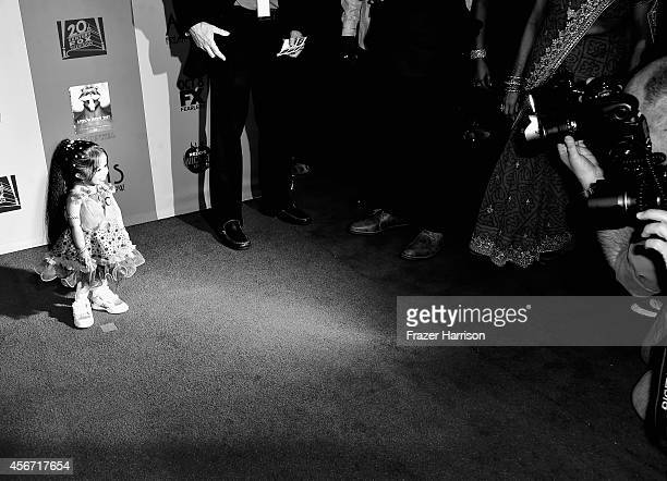 Actress Jyoti Amge arrives at the Premiere Screening of FX's American Horror Story Freak Show at TCL Chinese Theatre on October 5 2014 in Hollywood...