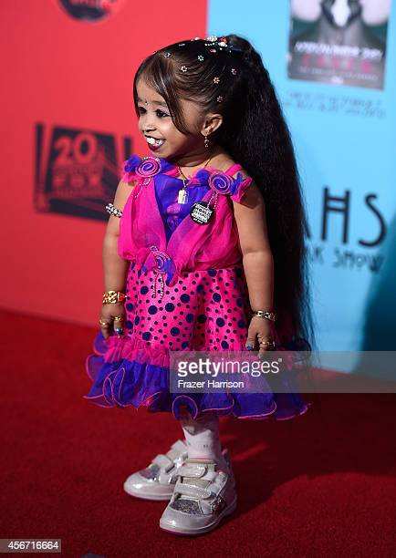 Actress Jyoti Amge attends FX's American Horror Story Freak Show premiere screening at TCL Chinese Theatre on October 5 2014 in Hollywood California
