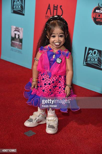 Actress Jyoti Amge attends the premiere screening of FX's American Horror Story Freak Show at TCL Chinese Theatre on October 5 2014 in Hollywood...