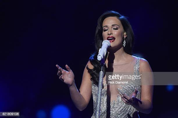 Actress Kacey Musgraves performs on stage during the CMA 2016 Country Christmas on November 8 2016 in Nashville Tennessee