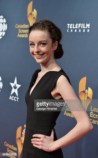 Actress Kacey Rohl arrives at the 2015 Canadian Screen Awards at the Four Seasons Centre for the Performing Arts on March 1 2015 in Toronto Canada