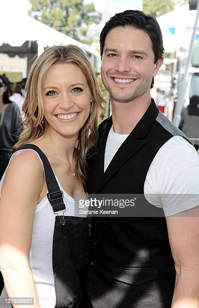 Actress KaDee Strickland and actor Jason Behr attend John Varvatos 8th Annual Stuart House Benefit featuring KD Lang at John Varvatos Los Angeles on...
