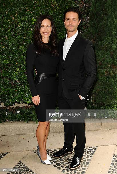 Actress KaDee Strickland and actor Jason Behr attend the Rape Foundation's annual brunch at Greenacres The Private Estate of Ron Burkle on October 4...
