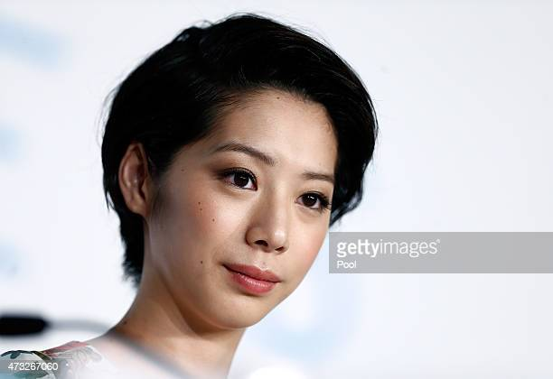 Actress Kaho attends the press conference for 'Umimachi Diary' during the 68th annual Cannes Film Festival on May 14 2015 in Cannes France