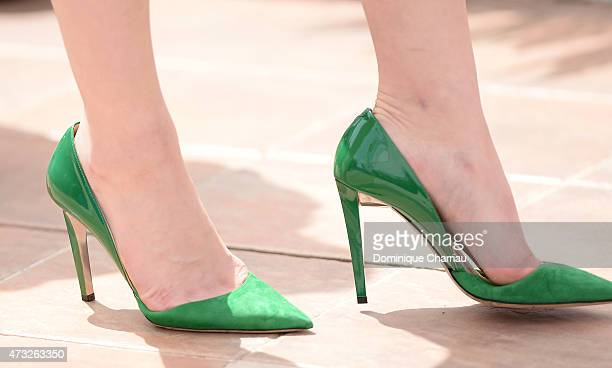 Actress Kaho shoe detail attends the 'Umimachi Diary' photocall during the 68th annual Cannes Film Festival on May 14 2015 in Cannes France
