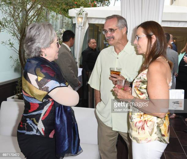 Actress Kahty Bates and David Zawieja attend Academy Award Winner and LERN Spokesperson Kathy Bates Hosts Reception On The Eve Of The Third Annual...